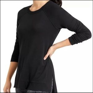 Athleta Black Side Slit CYA Workout Sweater Sz. M